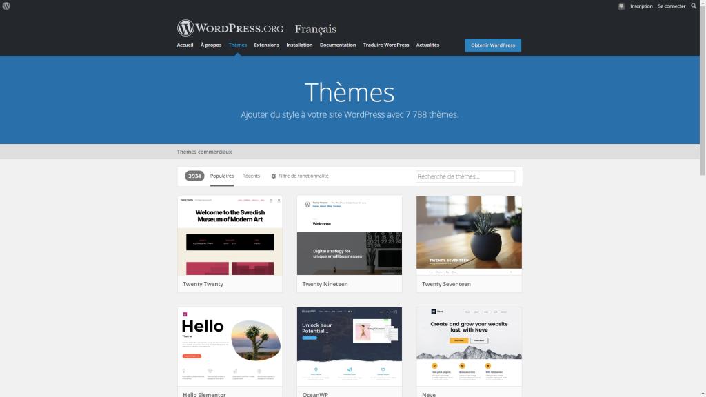 Choisir le thème WordPress qui vous convient